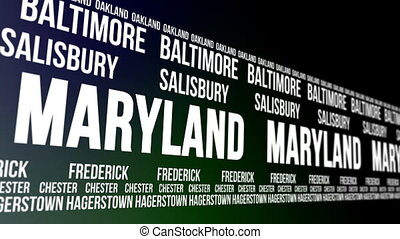 Maryland State and Major Cities Scr - Animated scrolling...
