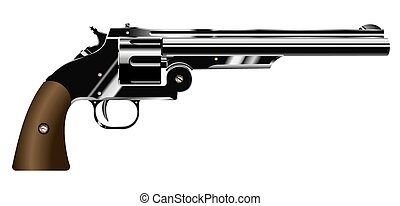 revolver - vector illustration of a revolver isolated on...