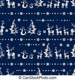 vector seamless Christmas 2