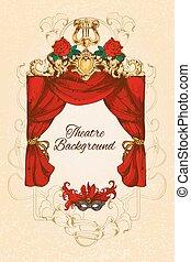 Theatre sketch background