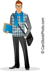 Fashion man with blue scarf