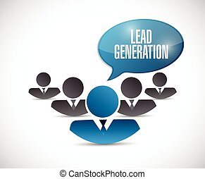lead generation business graph illustration design over a...