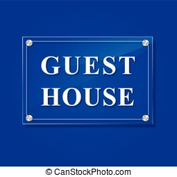 guest house transparent sign - illustration of guest house...