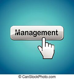management web button - illustration of management web...