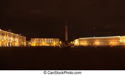 The palace square in st. Petersburg.