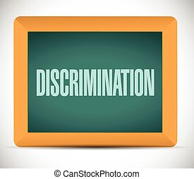 discrimination message illustration design over a white...