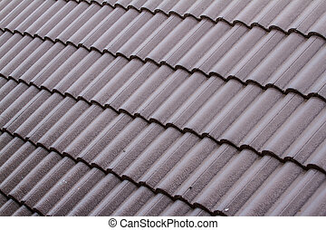 Brown tile roof