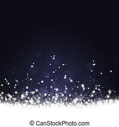 Snowfall - Winter delightful snowfall background for...