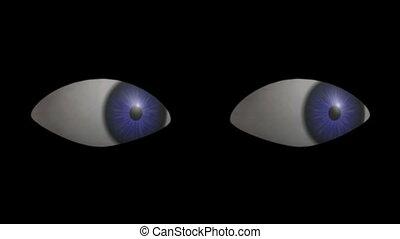 Eyes Looking. CG. hd