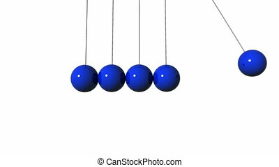 Newtons Cradle. CG. hd - Newton\'s Cradle animation.