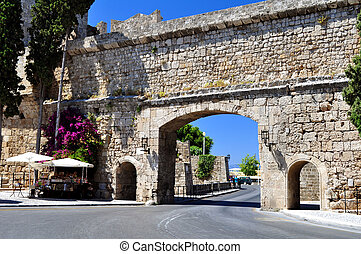 Rhodes old town - Travel photography: Old town: ancient...