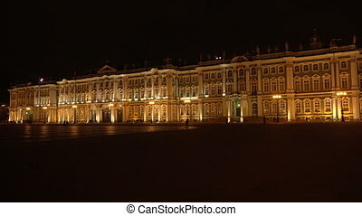 The Hermitage in St. Petersburg. White night.