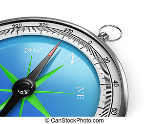 Compass - The compass indicates the direction of movement....