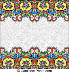 ethnic stripe ornament on floral background