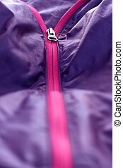 Creases and zipper of purple as texture - Creases and zipper...