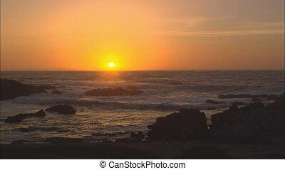 Sun Setting Over Pacific Ocean - XLS of sun setting over the...