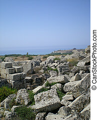 The antique ruins of Selinunt - The antique ruins of Sicily...