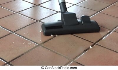 vacuum cleaner - Cleaning floor, vacuum cleaner close up