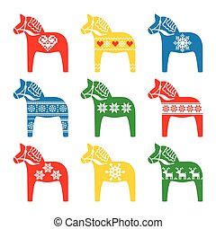 Swedish Dala, Dalecarlian horse - Symbol of Sweden...