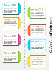 Vertical timeline with boxes for large description -...