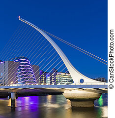 The Samuel Beckett Bridge in Dublin, Ireland