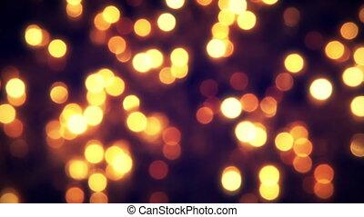 flashing christmas lights bokeh