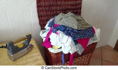 laundry crate - Laundry crate and iron