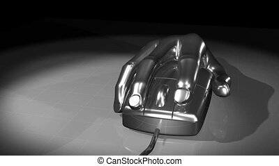 Mouse Hand Chrome. CG. hd