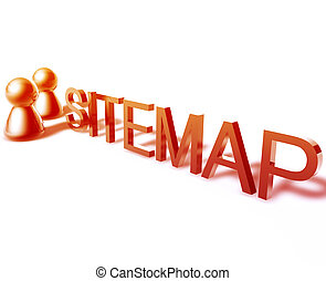 Sitemap word graphic - Sitemap online word graphic, with...