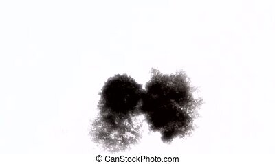 drop black ink blot blob