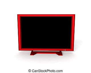 lcd television - three dimensional lcd television against...