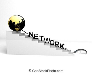 world and network on progress - 3d world and network on...