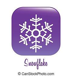 Winter design over white background, vector illustration