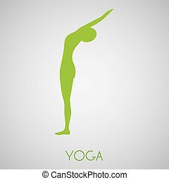 Yoga design over gray background, vector illustration