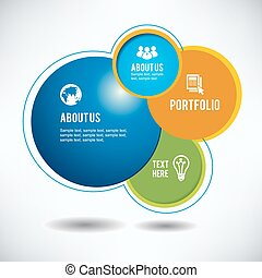 Abstract web site design, vector template