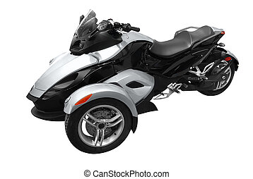 tricycle - fast tricycle motorcycle isolated