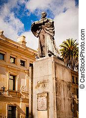 Statue of Camilo Torres in bogota colombia