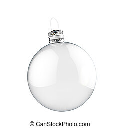 Empty Christmas ornament - Empty red Christmas ornament