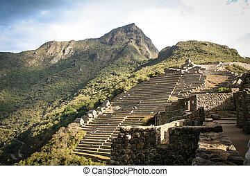Machu Picchu, a Peruvian Historical Sanctuary in 1981 and a...