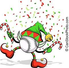 Baseball Christmas Elf