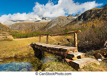 Wooden Bridge - Adamello Trento Italy - Small wooden bridge...