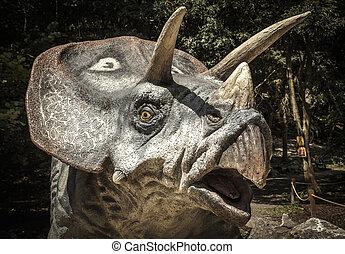 Dinosaurio, modelo,  Triceratops, realista