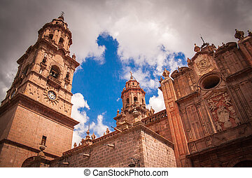 Picture of Morelia´s cathedral, Michocan, Mexico.