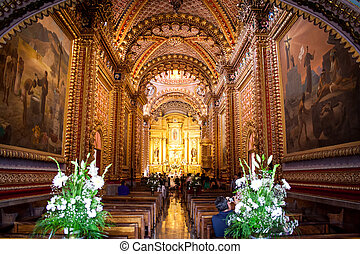 Picture of San Diego´s church, at Morelia Michoacan Mexico.