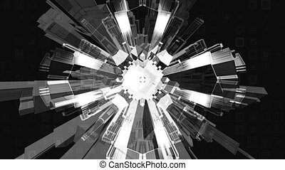 Black white Geometric Loop X775T - Black white Geometric VJ...
