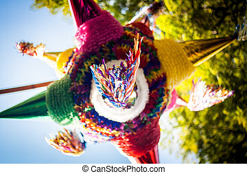 Mexican colorful pinata