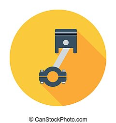 Piston single icon - Piston Single flat color icon Vector...