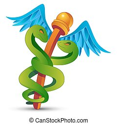 Cartoon Caduceus