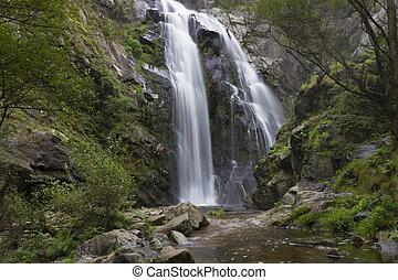 Waterfall of Toxa, Silleda, Pontevedra, Galicia, Spain