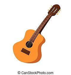 Acoustic Guitar - Vector illustration of an acoustic guitar...